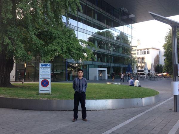 板带中心王晓晨博士受邀访学德国亚琛工业大学